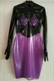 Heißes Latex Gummi Kleid Dress