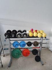 Kettler Hantelständer mit Gewichten