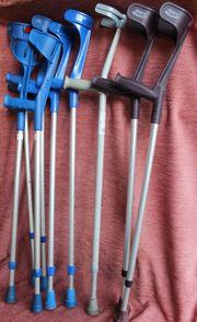 Unterarmgehstützen Krücken Gehhilfe einzeln oder