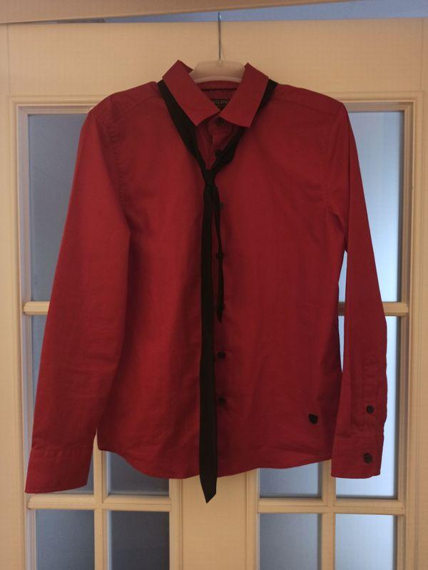 rotes Hemd mit Krawatte - Jungs -