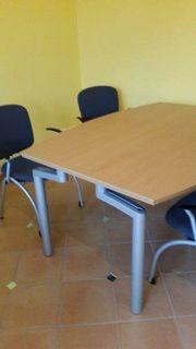 Besprechungstisch mit 4 Stühlen Pfalzmöbel
