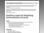 Kauffmann für Marketingkommunikation m w