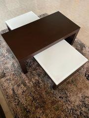 Wohnzimmer Tisch 2-Teilig Farbe Espresso