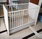 Babybett inkl matratze 120x60