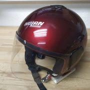 NOLAN N30 Motorradhelm Jethelm Weinrot-Metallic