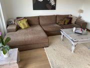 Sofa Stoff Braun gut erhalten