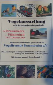 Vogelausstellung und Saalekreismeisterschaft