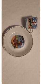 Kinderset Teller und Tasse Motiv