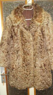 Damen Echtpelz- Mantel braun Kürschnerei