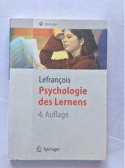 Psychologie des Lernens - Lefrancois