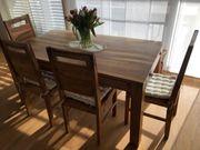 Esstisch und Stühle handgefertigt und