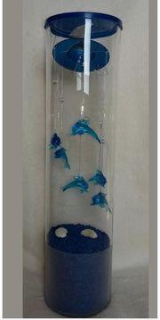 6 Glas-Delphine Mobile mit blauem