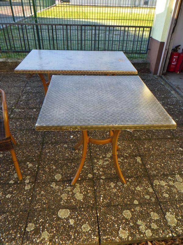 Terassentisch5x Gastronomie Tische Zu Verkaufen 80x80cm Außenbereich