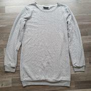 Long-Pullover grau samt Gr S
