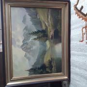 Landschaftsbild von Bogner gemalt