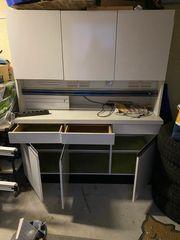 Küchenschrank gebraucht weiß massiv aus