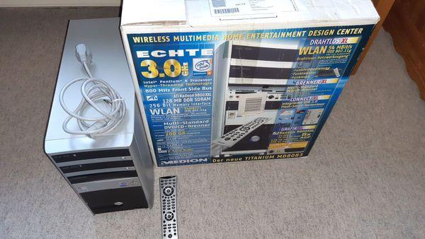 Verkaufe gut erhaltenen Medion PC mit DVD Laufwerken, Disketten Lfw, Kartenleser div. , FB, WIN XP CD