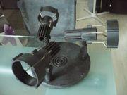 Strahlerlampe schwarz rund mit 3
