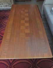 höhenverstellbarer Wohnzimmertisch Holz 60er 70er