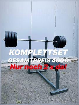 Fitness, Bodybuilding - Hantelscheiben Hantelstange Gewichte für Hantelbank