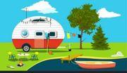 campingparzelle mit festem Wohnwagen