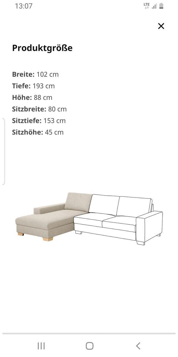 Sofa Recamiere Ikea Sorvallen In Salzgitter Ikea Mobel Kaufen Und Verkaufen Uber Private Kleinanzeigen
