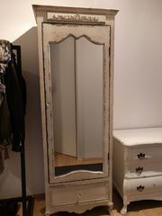 Spiegelschrank Shabby Chic Vintage weiß