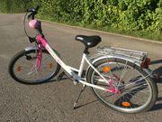 Mädchen Jugend Fahrrad Pink Weiß