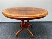 Rundlich ovaler Biedermeier Tisch