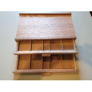 2 Holzkasten feines Holz Künstlerbedarf