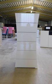 Schubladen-Kommode in Hochglanz-Weiß