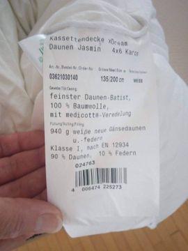 Kassettendecke xDream Daunen Jasmin 4x6 Karo.
