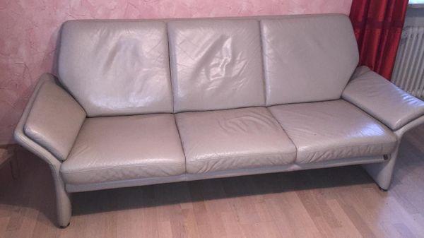 Wohnzimmer Leder-Couch Garnitur 3-Sitzer 2-Sitzer