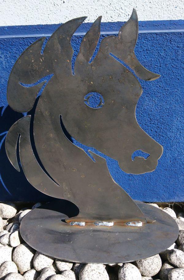 Pferde Figur aus Stahl