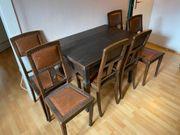 Esstisch inkl 6 Stühle - antik
