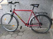 Sportliches He-Trekkingfahrrad 28 Farbe rot