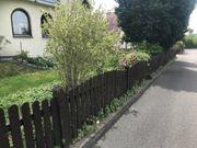 Zaun aus Holz Selbstabholer zu