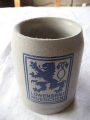 alter Bierkrug Löwenbräu München 0
