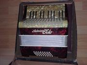 Akkordeon mit Pelrmuttasten und Koffer