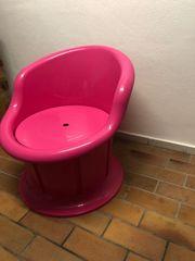 Ikea Plastiksessel Popptorp in pink