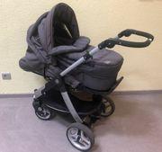 Kinderwagen grau Teutonia vom Baby