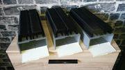 3 Diaboxen mit leer Magazinen -
