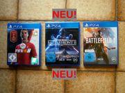 PS4 Spiele - 3 Games davon