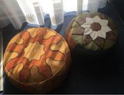 Marokkanisches Sitzkissen Hocker Leder Pouf