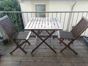 Teakholz Balkon-Set