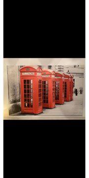 Leinwand Bild Telefonzelle London 180x120