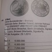 2 Euro Bremen A Stempelglanz