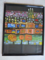 Hundertwasser DER FÜHRER 1981 Bilderrahmen