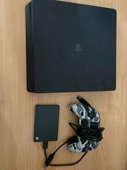 PS4 inkl Controller und Festplatte