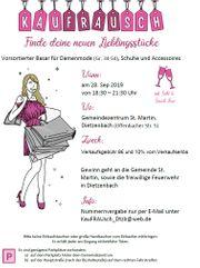 Vorsortierter Flohmarkt für Frauenbekleidung